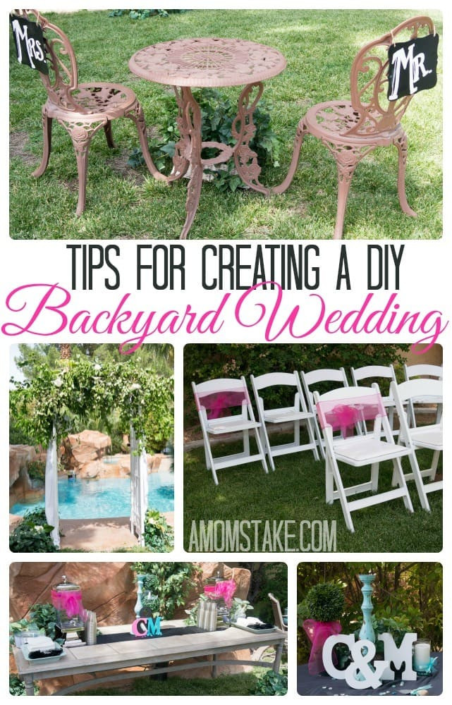 Best ideas about DIY Wedding Ideas For A Tight Budget . Save or Pin Tips for a DIY Backyard Wedding A Mom s Take Now.