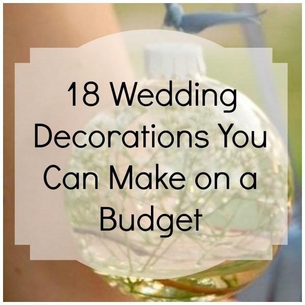 Best ideas about DIY Wedding Ideas For A Tight Budget . Save or Pin 18 Bud Friendly Wedding Décor DIY's – DIY Weddings Now.