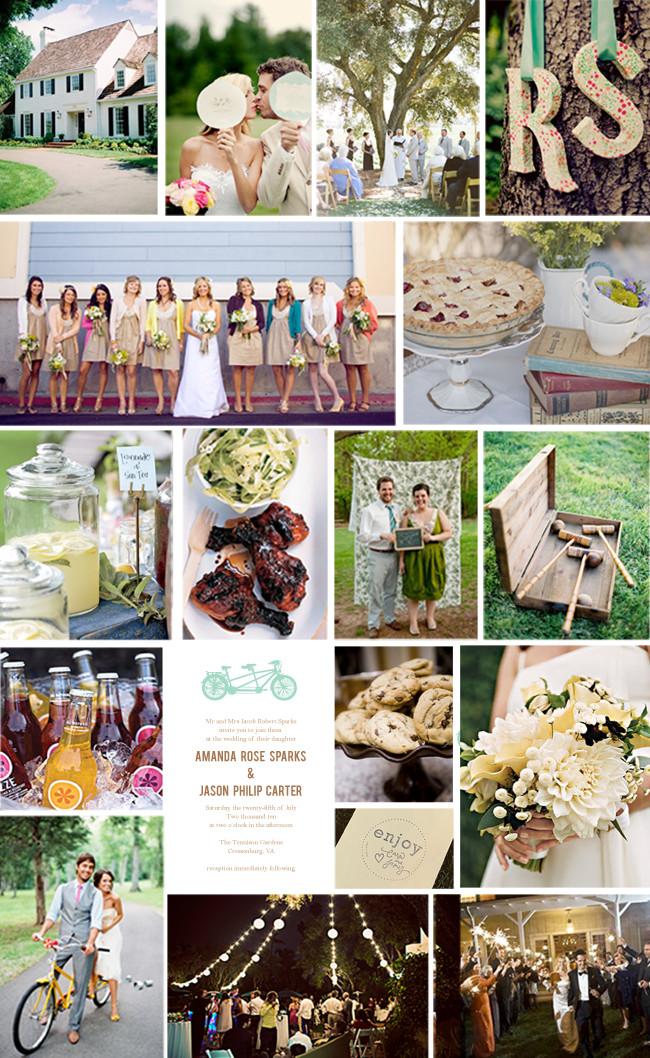 Best ideas about DIY Wedding Ideas On A Budget . Save or Pin LQ Designs A Backyard Wedding on a Bud Now.