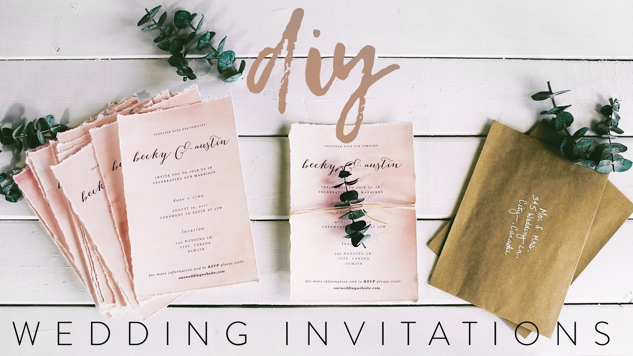Best ideas about DIY Wedding Invitation Idea . Save or Pin DIY MY WEDDING INVITATIONS WITH ME Now.