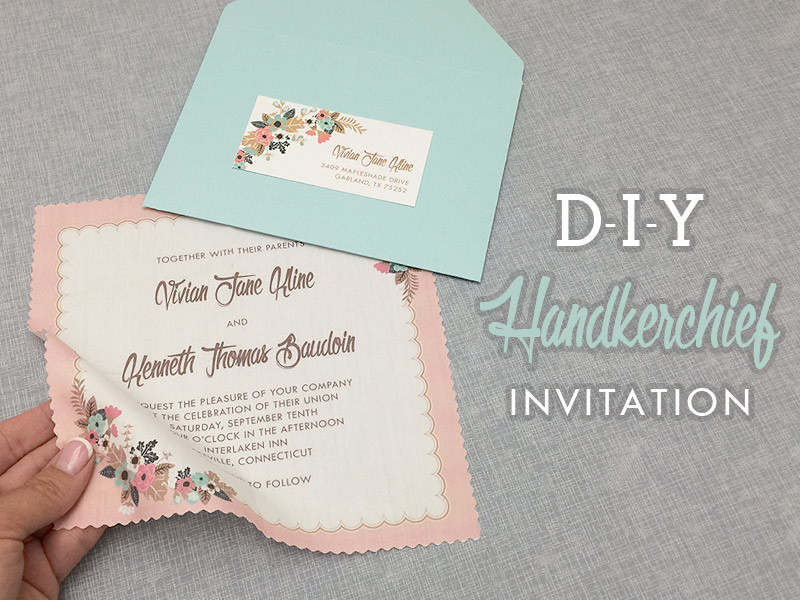 Best ideas about DIY Wedding Invitation Idea . Save or Pin DIY Vintage Hanky Wedding Invitation with Free Template Now.