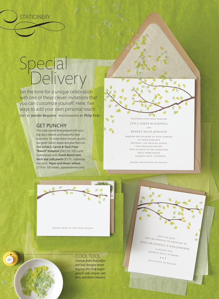 Best ideas about DIY Wedding Invitation Ideas . Save or Pin DIY Wedding Invitation Ideas from Martha Stewart Weddings Now.