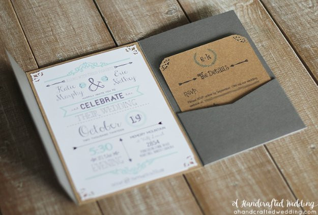 Best ideas about DIY Wedding Invitation Ideas . Save or Pin 27 Fabulous DIY Wedding Invitation Ideas Now.