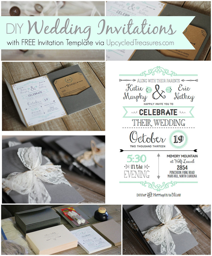 Best ideas about DIY Wedding Invitation Templates . Save or Pin 10 Free Wedding Printables for the Crafty Bride – Party In Now.