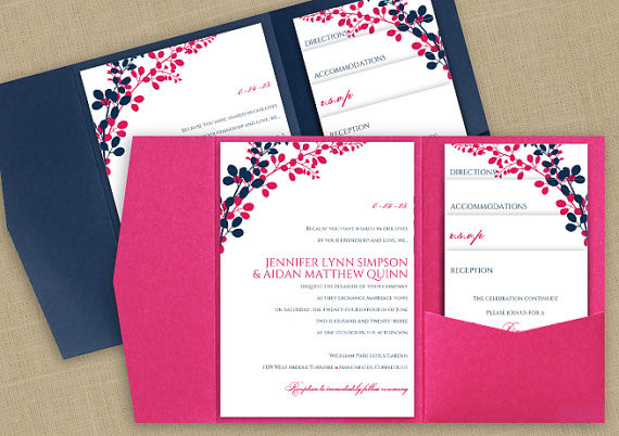 Best ideas about DIY Wedding Invitation Templates . Save or Pin DiY Pocket Wedding Invitation Template Set Instant Now.