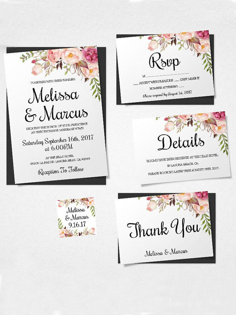 Best ideas about DIY Wedding Invitation Templates . Save or Pin 16 Printable Wedding Invitation Templates You Can DIY Now.