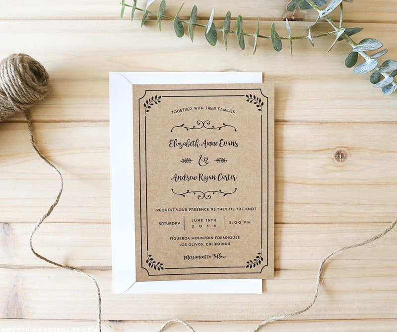 Best ideas about DIY Wedding Invite Templates . Save or Pin FREE Printable Wedding Invitation Template Now.