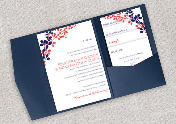 Best ideas about DIY Wedding Invite Templates . Save or Pin DiY Pocket Wedding Invitation Template Set Instant Now.