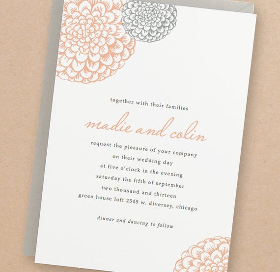 Best ideas about DIY Wedding Invite Templates . Save or Pin Printable Wedding Invitation Template INSTANT DOWNLOAD Now.