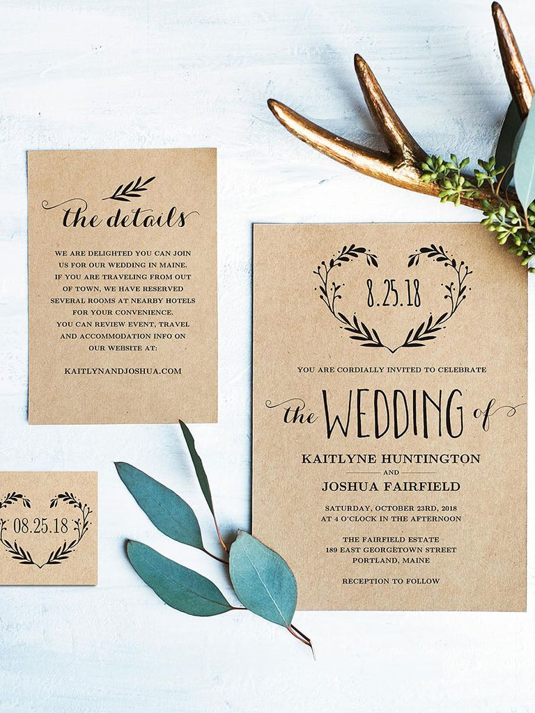 Best ideas about DIY Wedding Invite Templates . Save or Pin 16 Printable Wedding Invitation Templates You Can DIY Now.
