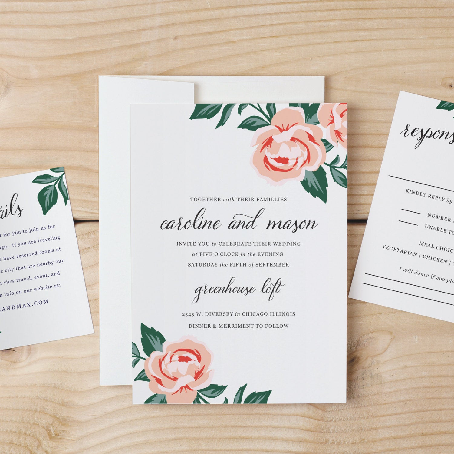 Best ideas about DIY Wedding Invite Templates . Save or Pin DIY Wedding Invitation Template Colorful Floral Word or Now.