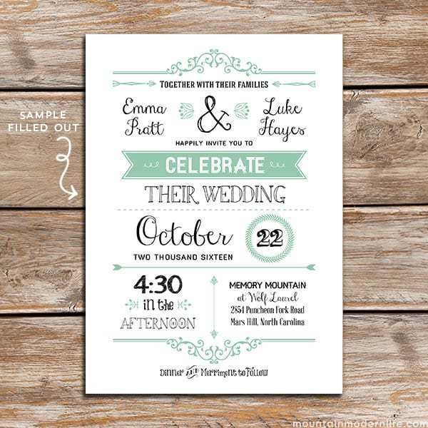 Best ideas about DIY Wedding Invite Templates . Save or Pin FREE Wedding Invitation Template Now.