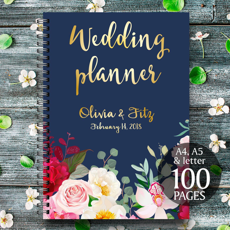 Best ideas about DIY Wedding Planner Binder . Save or Pin DIY wedding planner Navy burgundy wedding binder Printable Now.