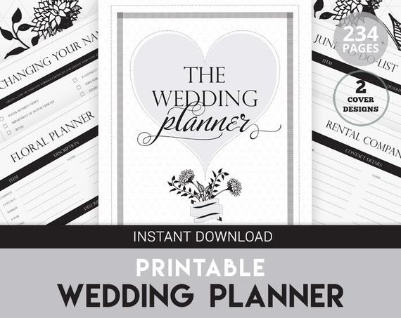Best ideas about DIY Wedding Planner . Save or Pin Wedding Planner Printable DIY Wedding Organizer by KEEPSAKED Now.