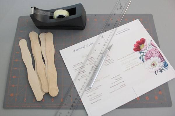 Best ideas about DIY Wedding Program Fan Template . Save or Pin DIY Pretty Blooms Wedding Program Paddle Fan Now.