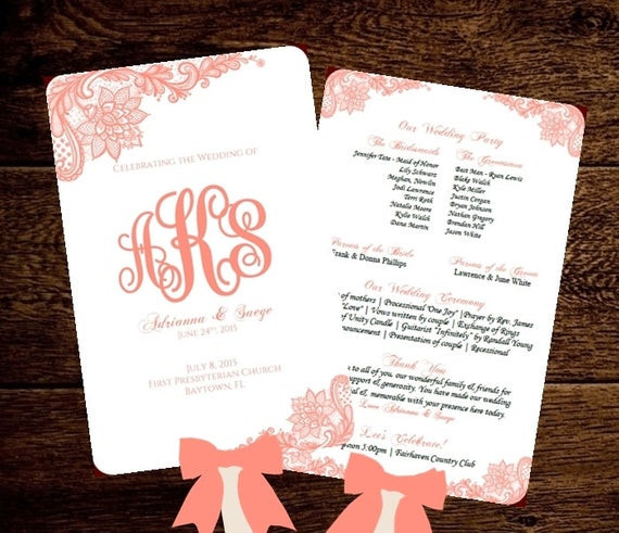 Best ideas about DIY Wedding Program Fan Template . Save or Pin Wedding FAN Program Printable Template by PixelRomance4ever Now.