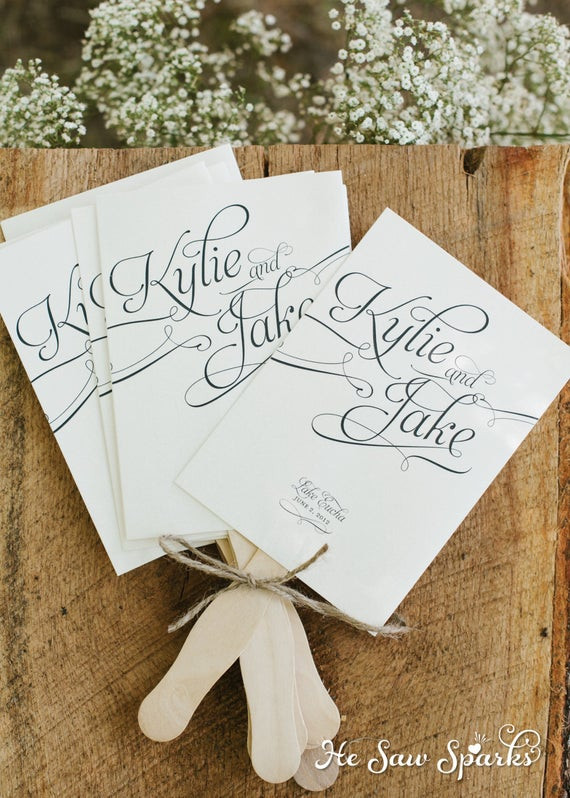 Best ideas about DIY Wedding Program Fan Template . Save or Pin Printable Paddle Fan Program DIY with Proof by HeSawSparks Now.