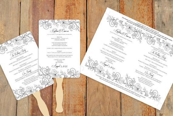 Best ideas about DIY Wedding Program Fan Template . Save or Pin DiY Wedding Fan Program Template DOWNLOAD by KarmaKWeddings Now.