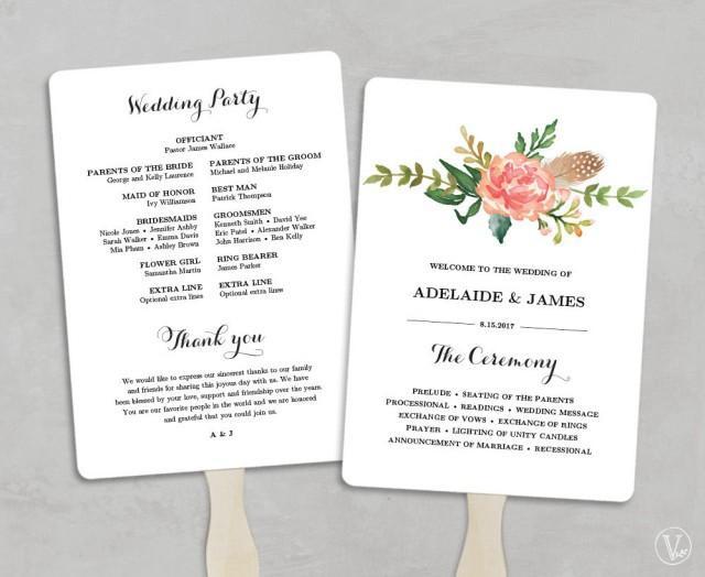 Best ideas about DIY Wedding Program Fan Template . Save or Pin Printable Wedding Program Template Fan Wedding Programs Now.