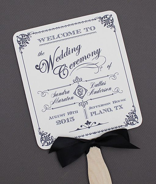Best ideas about DIY Wedding Program Fan Templates . Save or Pin Pin by Download & Print on DIY Wedding Programs Now.