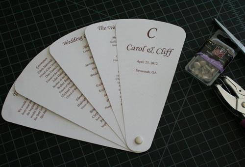 Best ideas about DIY Wedding Program Fan Templates . Save or Pin Cherish Paperie DIY Wedding Invitations DIY Fan wedding Now.
