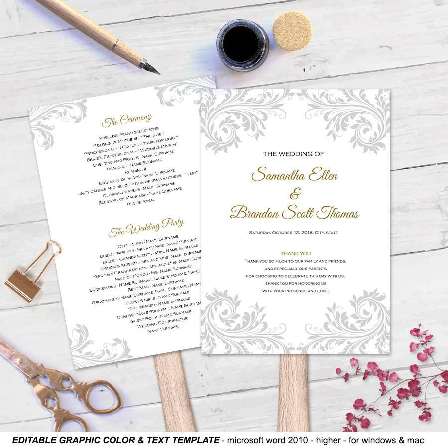 Best ideas about DIY Wedding Program Fan Templates . Save or Pin DIY wedding fan program Fan wedding program templates Now.