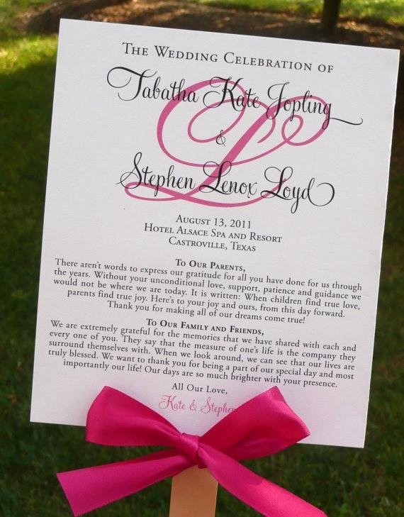Best ideas about DIY Wedding Program Fan Templates . Save or Pin DIY Ceremony Program that Doubles as a Fan Now.