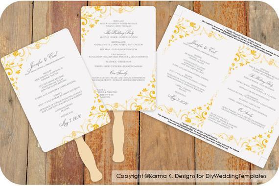 Best ideas about DIY Wedding Program Fan Templates . Save or Pin DiY Wedding Fan Program Template DOWNLOAD by KarmaKWeddings Now.
