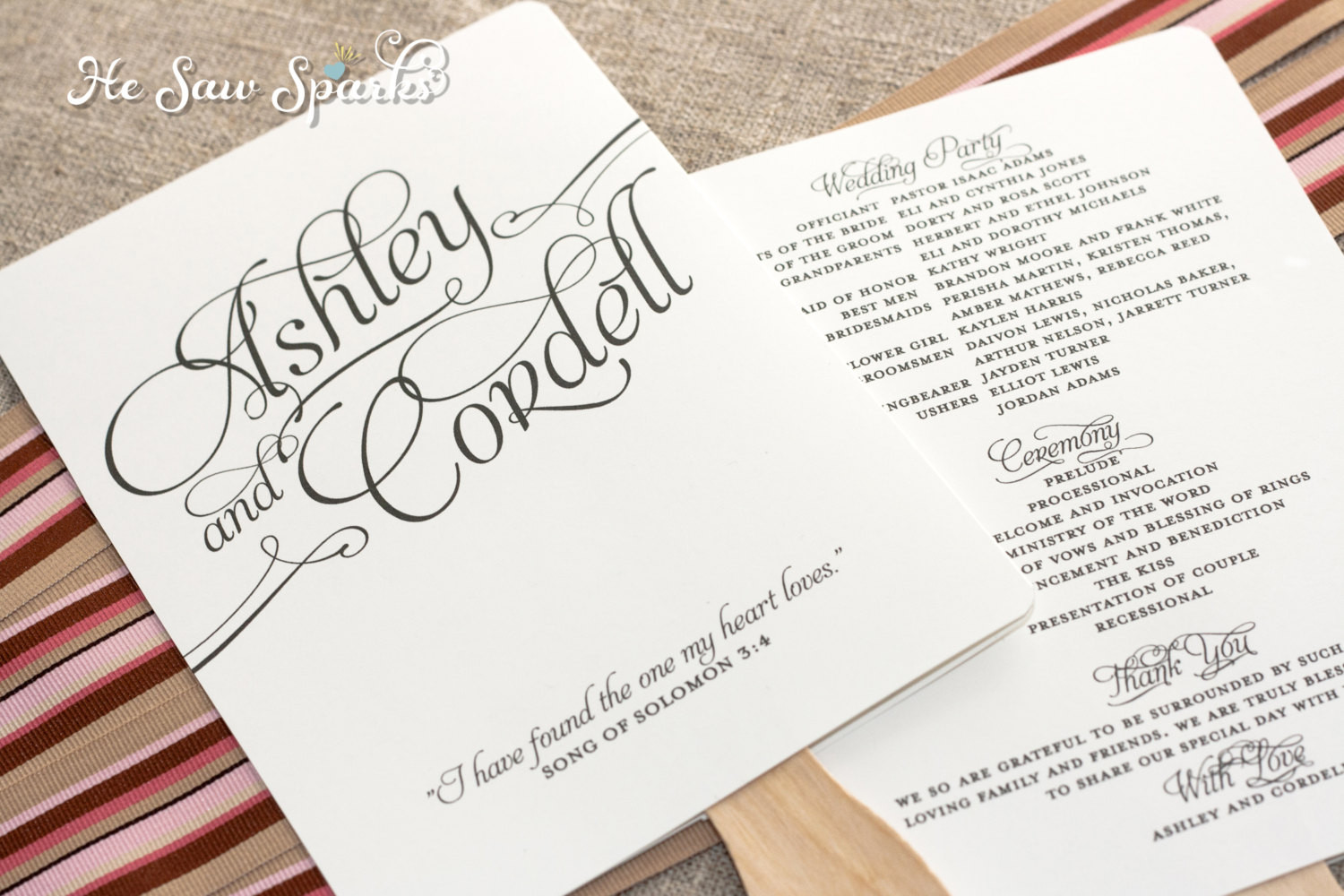 Best ideas about DIY Wedding Program Templates . Save or Pin Matching Paddle Fan Program DIY Printable Now.