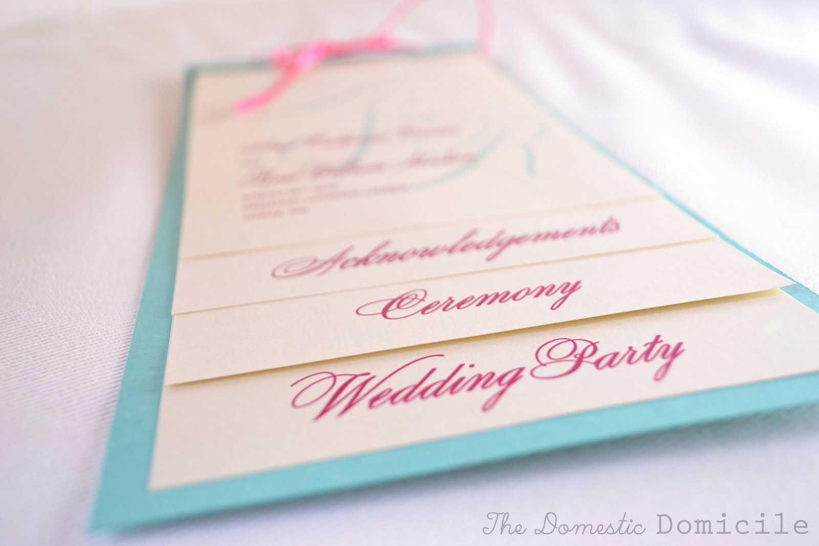 Best ideas about DIY Wedding Program Templates . Save or Pin DIY Wedding Revisited Program Templates The Domestic Now.