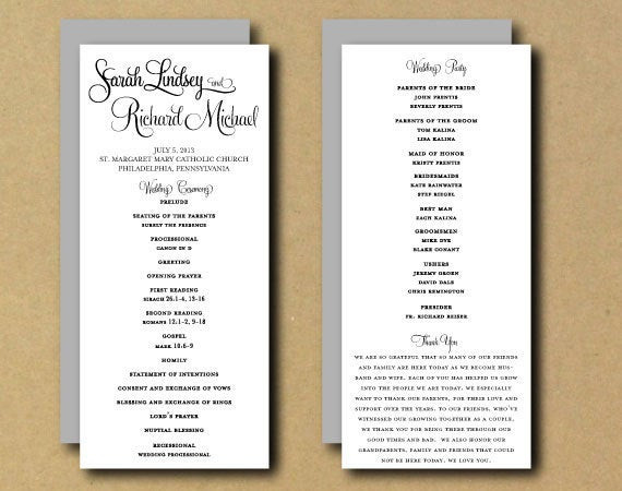 Best ideas about DIY Wedding Program Templates . Save or Pin SALE Printable Wedding Program Template Whimsical Now.