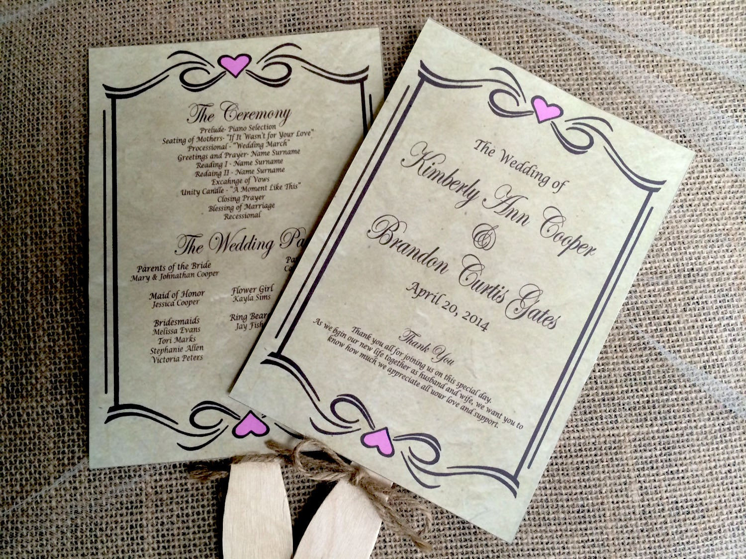 Best ideas about DIY Wedding Programs Fans . Save or Pin DIY Rustic Wedding Program Fan Printable Vintage Wedding Now.