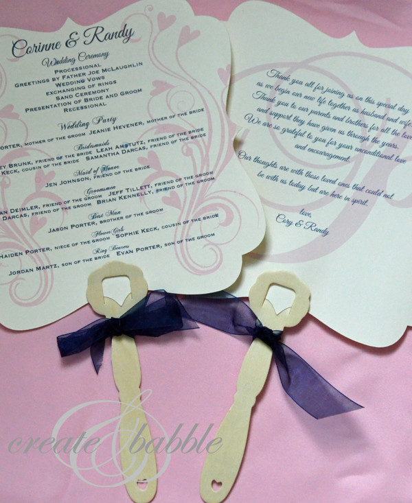 Best ideas about DIY Wedding Programs Fans . Save or Pin DIY Wedding Programs Create and Babble Now.