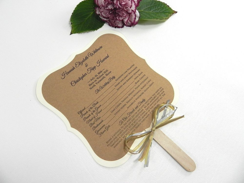 Best ideas about DIY Wedding Programs Fans . Save or Pin DIY KIT Custom Rustic Wedding Program Fans Personalized Now.