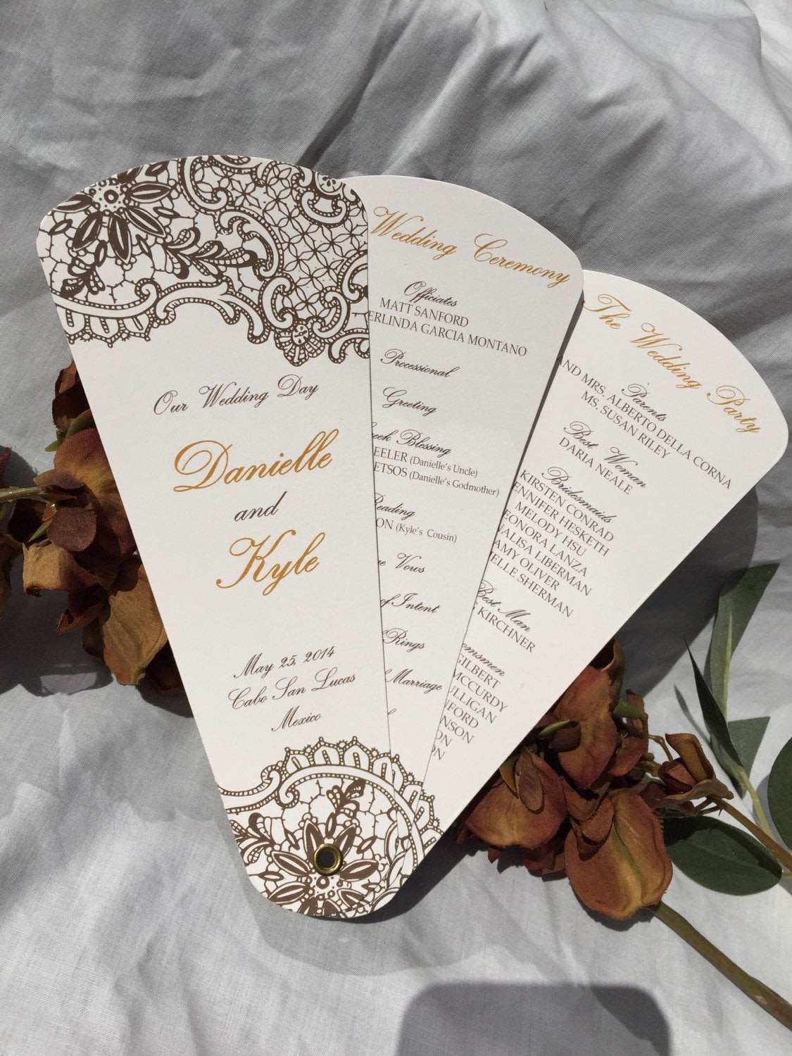 Best ideas about DIY Wedding Programs Fans . Save or Pin Wedding Program Fans Petal Fan Programs Fan Programs Now.