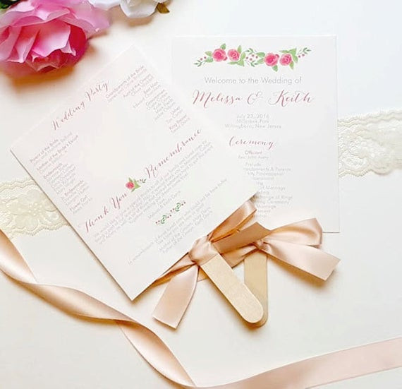 Best ideas about DIY Wedding Programs Fans . Save or Pin DIY Wedding Program Fan Kit Printable Fan by Now.
