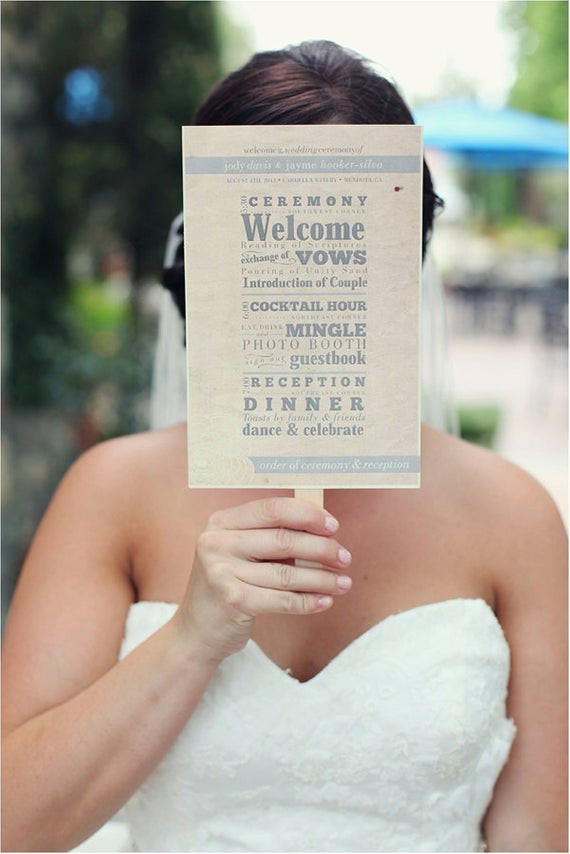 Best ideas about DIY Wedding Programs Fans . Save or Pin Wedding Program Fan DIY Printable File Rustic Yellow Now.