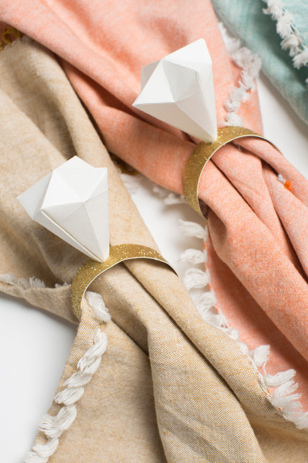 Best ideas about DIY Wedding Ring . Save or Pin DIY Make an origami diamond napkin ring Brooklyn Bride Now.