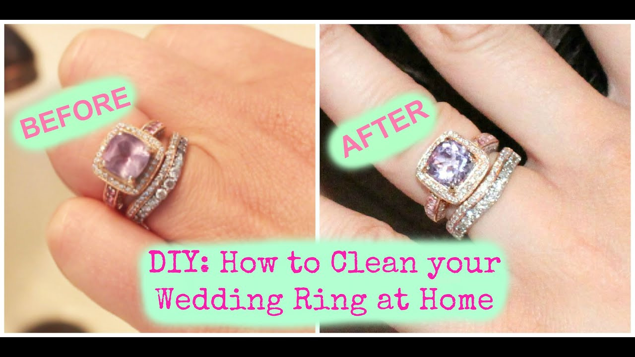 Best ideas about DIY Wedding Ring . Save or Pin DIY How to Clean your Wedding Ring at Home Now.