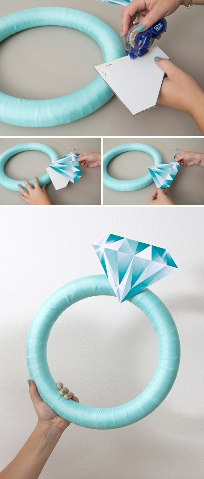 Best ideas about DIY Wedding Ring . Save or Pin This Giant Diamond Ring Is The Perfect DIY Bridal Shower Now.