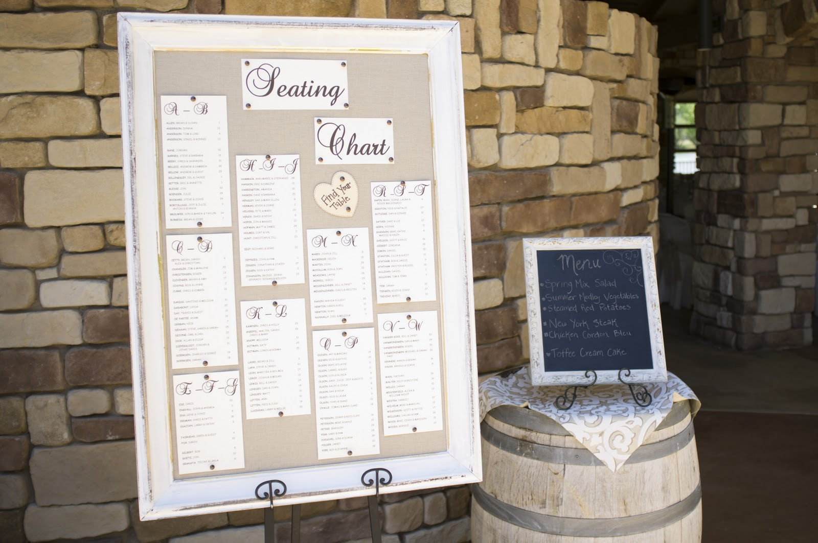 Best ideas about DIY Wedding Seating Chart . Save or Pin Emms s blog fall themed wedding ideas fall wedding color Now.