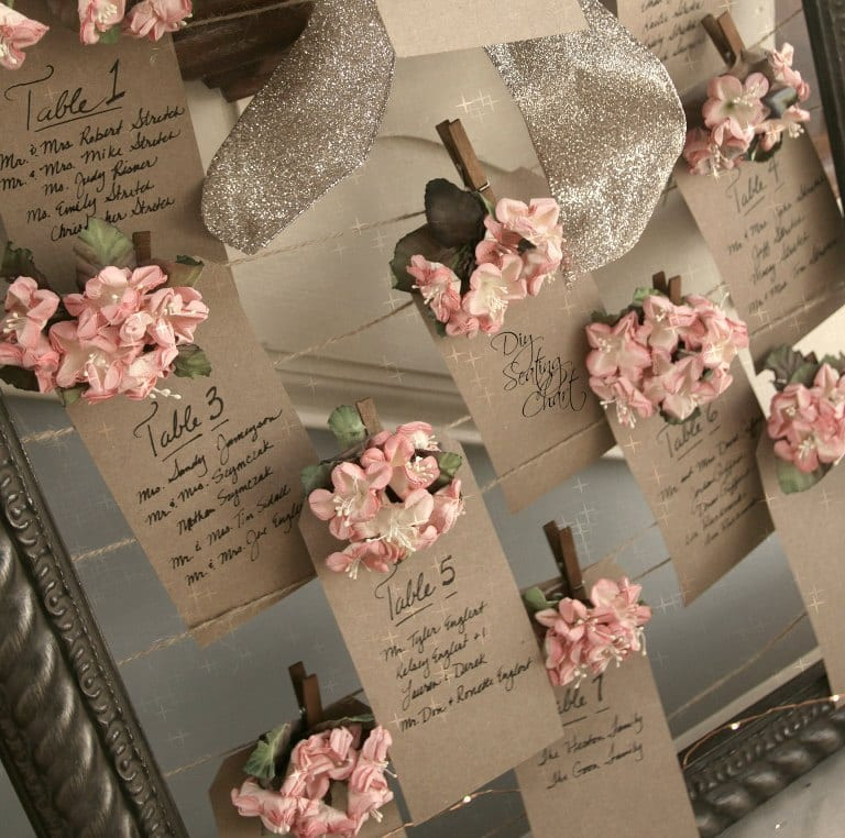Best ideas about DIY Wedding Seating Chart . Save or Pin DIY Vintage Wedding Seating Chart Craft Now.