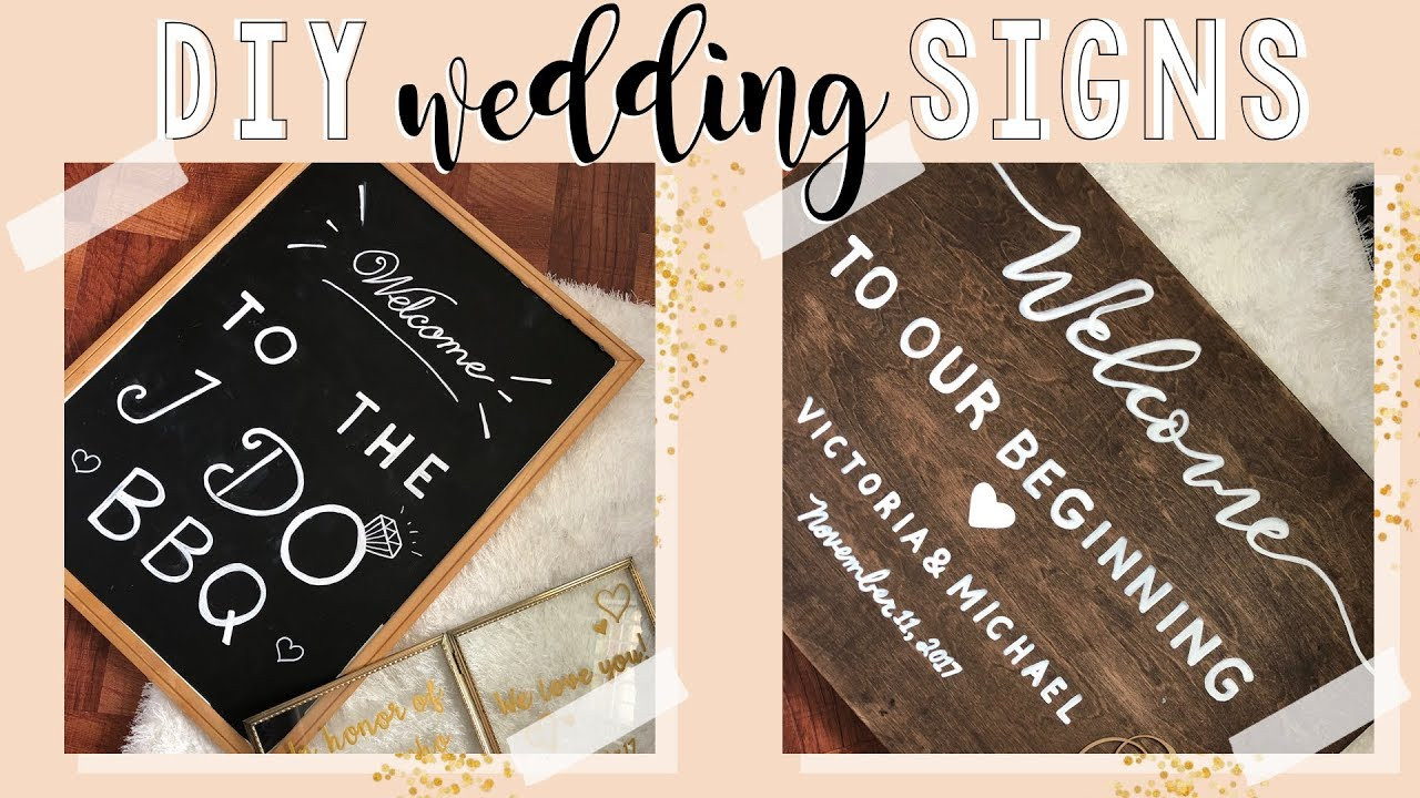 Best ideas about DIY Wedding Signs . Save or Pin DIY Wedding Signs Now.
