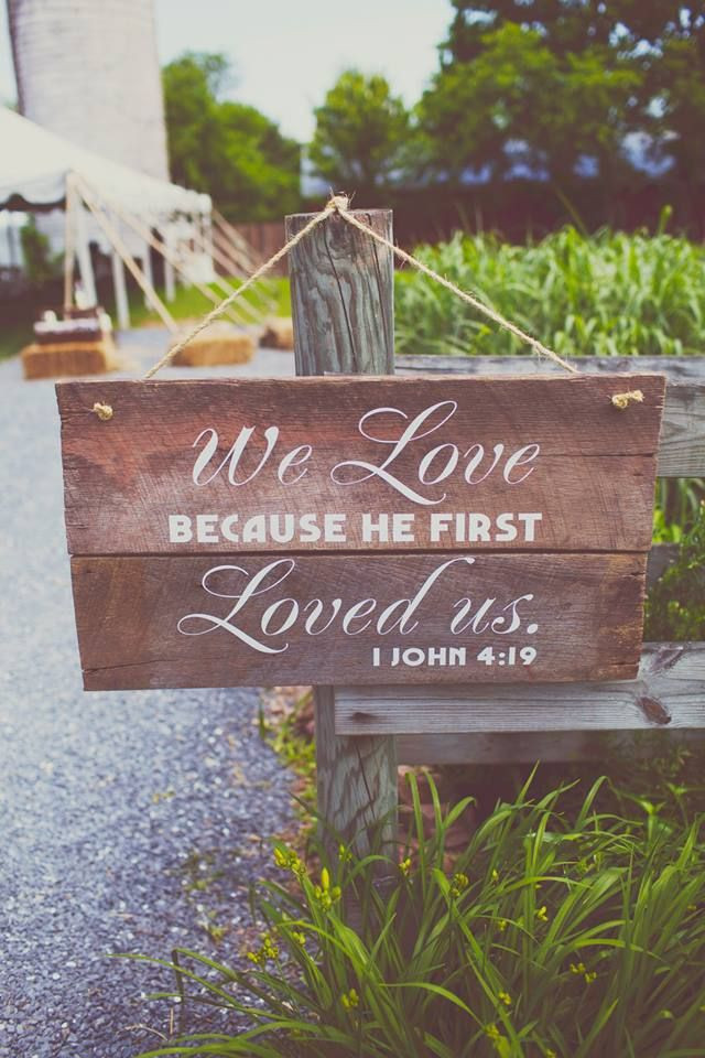 Best ideas about DIY Wedding Signs . Save or Pin DIY wedding signs Love this bible verse Now.