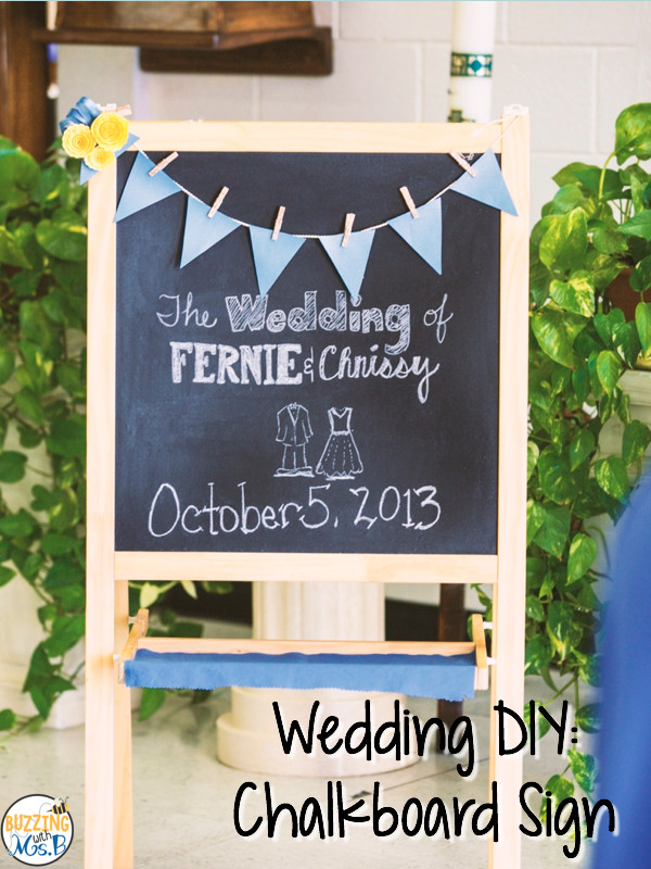 Best ideas about DIY Wedding Signs . Save or Pin Buzzing with Ms B Wedding DIY Chalkboard Wel e Sign Now.