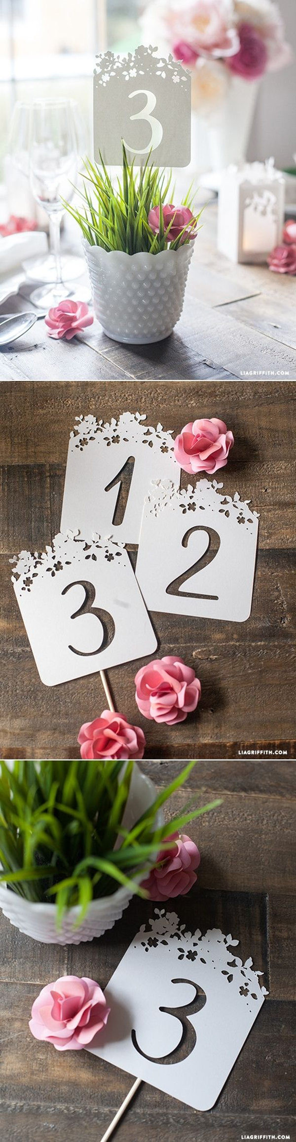 Best ideas about DIY Wedding Table Numbers . Save or Pin 20 Creative DIY Wedding Ideas For 2016 Spring Now.