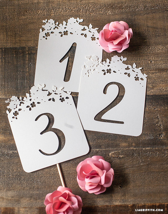 Best ideas about DIY Wedding Table Numbers . Save or Pin DIY Wedding Table Numbers Lia Griffith Now.