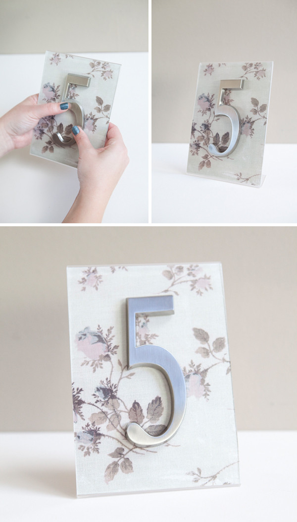 Best ideas about DIY Wedding Table Numbers . Save or Pin DIY how to turn address numbers into table numbers Now.