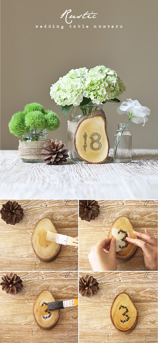 Best ideas about DIY Wedding Table Numbers . Save or Pin Top 10 DIY Wedding Table Number Ideas With Tutorials Now.