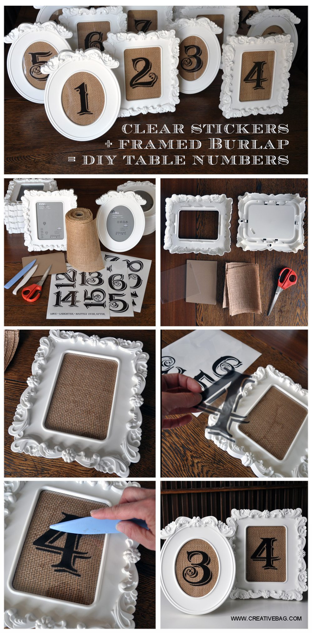 Best ideas about DIY Wedding Table Numbers . Save or Pin DIY Wedding Project Rustic Vintage Table Numbers Now.